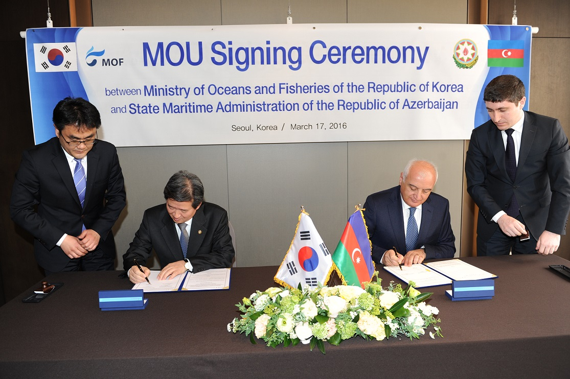 Two memorandums of understanding has been signed between the State Maritime Administration of the Republic of Azerbaijan and the Ministry of Oceans and Fisheries of the Republic of Korea (Photo)