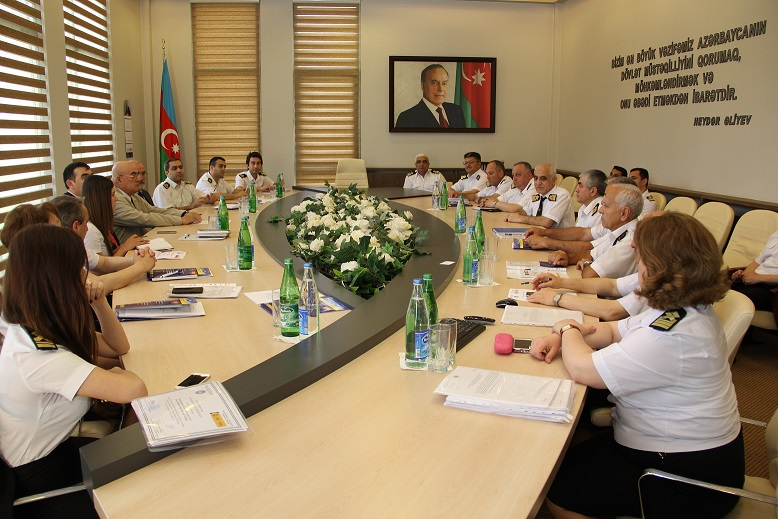 "In the State Maritime Administration in frame of the twinning project ""Support to the Maritime Administration to Improve Liability in Maritime Transport in the Republic of Azerbaijan"" has been held the training on ""Maritime Rescue Coordination Center and"
